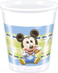 8 Plastikbecher Mickey™
