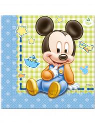 20 Servietten aus Papier Baby Mickey 33 x 33 cm