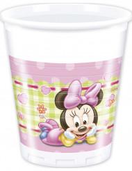 8 Plastikbecher Baby Minnie™ 20 cl