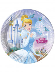 8 blaue Pappteller Cinderella™