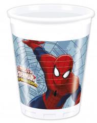 8 Kunststoffbecher Spiderman
