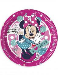 8 Pappteller Minnie in rosa