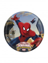 8 Ultimate Spiderman™ Pappteller 20 cm Web-Warriors™