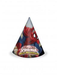 6 Spiderman™ Partyhüte