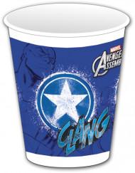 8 blaue Avengers™ Plastikbecher