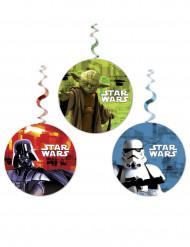 3 aufhängbare Dekorationen mit Star Wars ™ Motiven