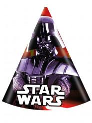 6 Star Wars™ Darth Vader Partyhüte