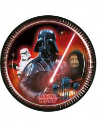 8 Star Wars™ Pappteller groß 23 cm schwarz-rot