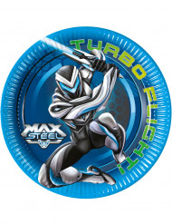 Pappteller im Max Steel Design