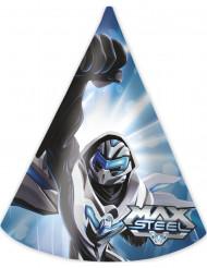 6 Partyhüte Max Steel™