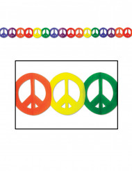 Bunte Peace-Girlande Hippie