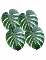 4 Palmenblätter aus Plastik