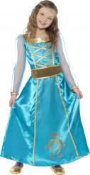 Mittelalterliches Prinzessin-Kostüm in Blau