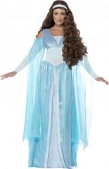 Zartblaues Kostüm einer Prinzessin aus dem Mittelalter