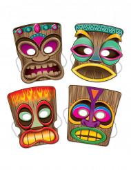 4 Tiki Masken