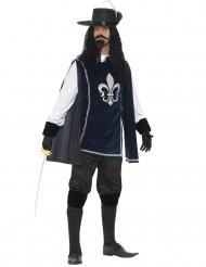 Musketier-Kostüm in Marineblau für Männer