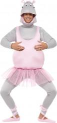 Verkleidung Nilpferd-Ballerina für Erwachsene