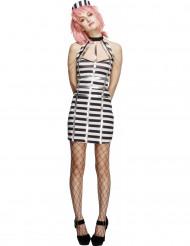 Sexy Gefangenen-Kleid für Damen