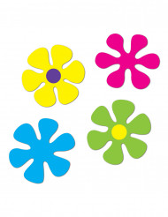 4 Retro Blumen-Dekorationen
