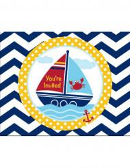 8 Einladungskarten - Abenteuer Seefarht