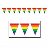Wimpel-Girlande - Regenbogen