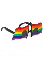Regenbogen Flagge Brille