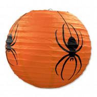 3 orange Papierlaternen mit Spinnen