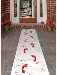 Halloween Teppich mit blutigen Fußspuren