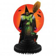 Tischdekoration für Halloween mit Hexe