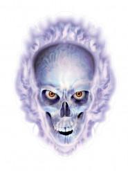 brennender Totenkopf Aufkleber für Halloween