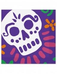 16 Papierservietten mit  Dia de Los Muertos Motiv