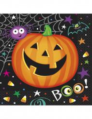 16 Papierservietten Kleiner Halloween Kürbis, 33 x 33 cm