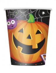 8 Trinkbecher aus Karton mit Halloween-Motiv 255 ml