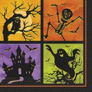 20 dekorative Papierservietten Halloweennacht, 33 cm x 33 cm