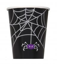 8 Spinnengewebe-Pappbecher