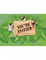 8 Einladungskarten - Abenteuer Safari