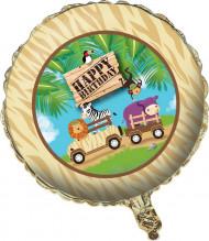 Alu-Luftballon - Safari Happy Birthday