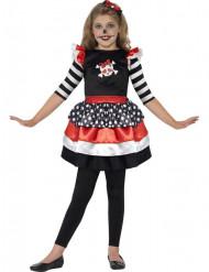 Piratenskelett-Halloweenkostüm für Mädchen