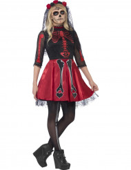 Rotes Skelett Kostüm für junge Erwachsene - Halloween