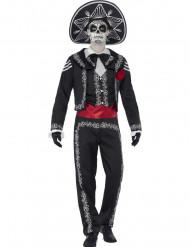 Mexikanisches Skelett Kostüm für Herren Halloween