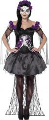 Mexikanisches Skelett Kostüm Damen