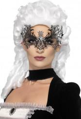 Spinnennetz Maske mit Strass für Erwachsene - Halloween