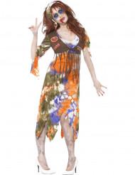 Hippie-Zombie Halloweenkostüm für Frauen.