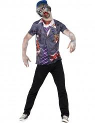 Halloweenkostüm Schuljungen-Zombie für Männer