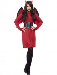 Verführerisches Teufelinnen Halloween Kostüm für Damen