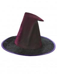 Lila Hut mit Spinnennetz für Frauen Halloween