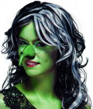 Grüne Hexennase für Erwachsene an Halloween