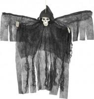 Dekoration zum Aufhängen - Schwarzer Skelettengel Halloween