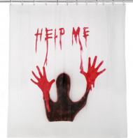 Blutverschmierter Duschvorhang - Halloween