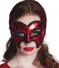 Augenmaske Roter Teufel für Damen Halloween